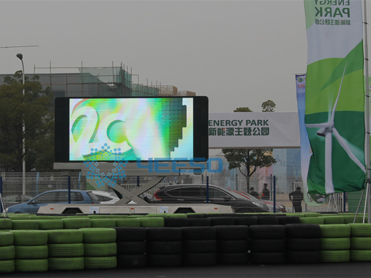 Shanghai new energy event-LED Display Van and trailer