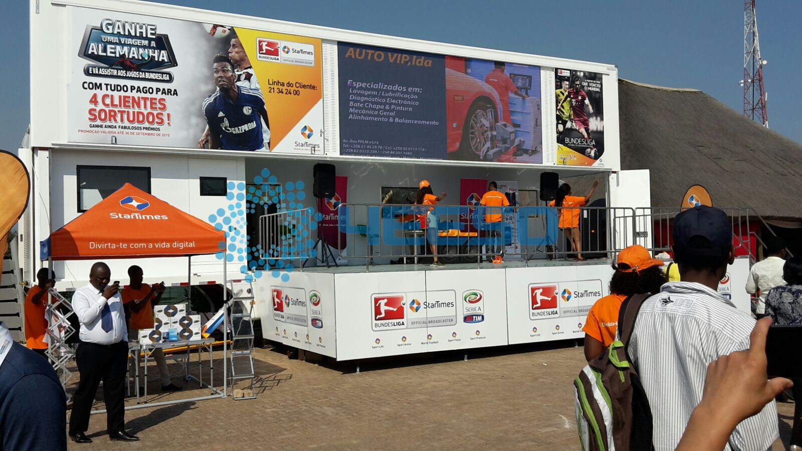 Mozambique YES-C40 mobile stage truck for public benefit