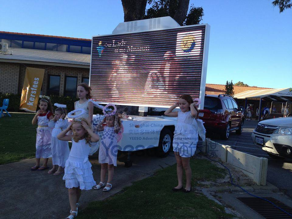 Perth Christmas celebration events-LED Screen Trailer