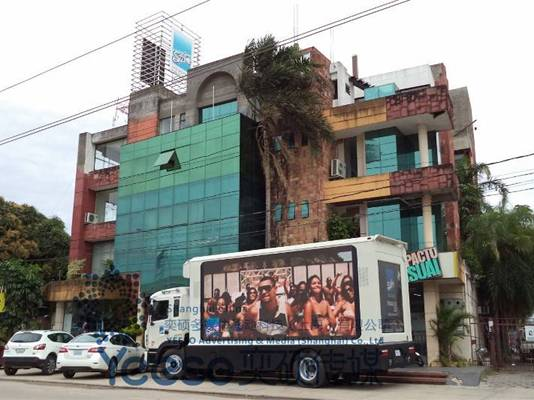 YES-V9 LED Screen Truck in Bolivia