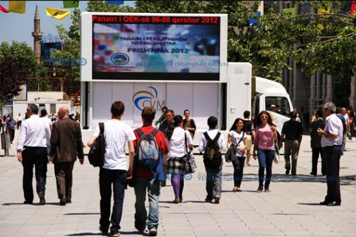 YES-V8 LED Billboard Truck in Kosovo