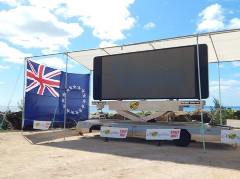 LED Screen Trailer on Cook Islands