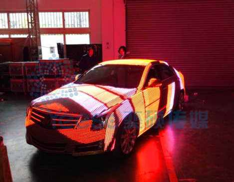 LED surface, LED skin, soft LED for car and sculpture
